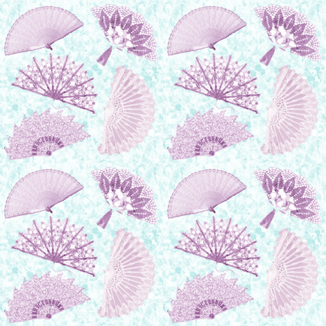 victorian fans fabric by krs_expressions on Spoonflower - custom fabric