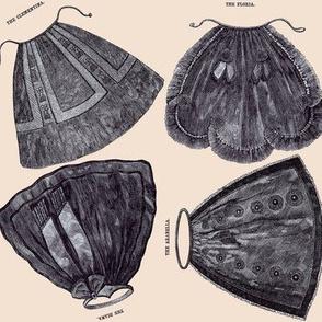 Ladies Things!  Apron Fashions 1842