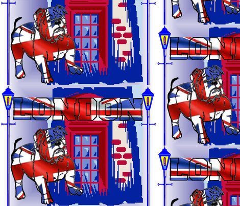 BRITISH BULL DOG fabric by bluevelvet on Spoonflower - custom fabric