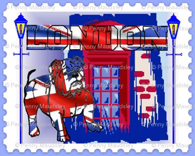 BRITISH BULL DOG STAMP