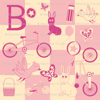 """""""B is for...Bicycles"""" (Pink Version)"""