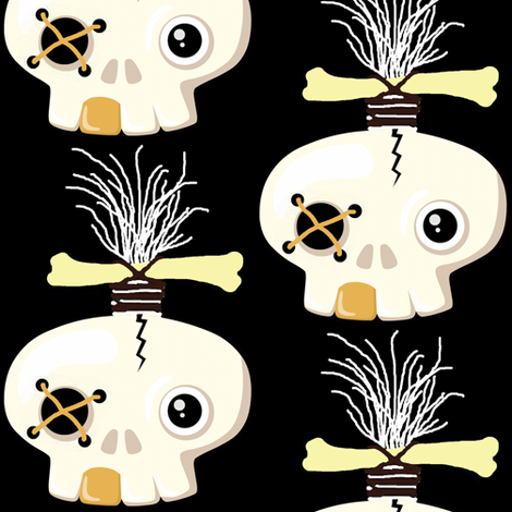zombie skull 1 fabric by paragonstudios on Spoonflower - custom fabric