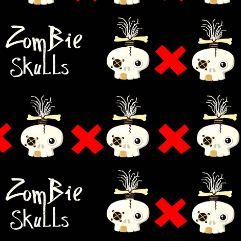zombie skulls  fabric by paragonstudios on Spoonflower - custom fabric