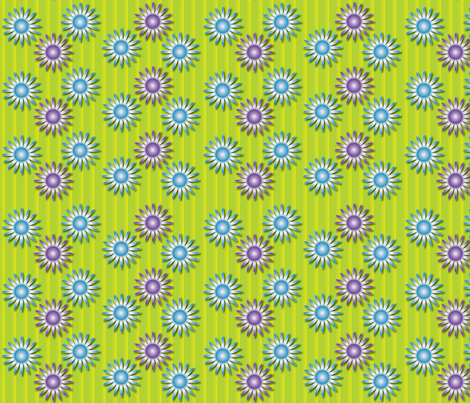 Dazzling Daisies fabric by jjtrends on Spoonflower - custom fabric