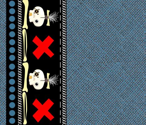 Robo Tiki border fabric by paragonstudios on Spoonflower - custom fabric
