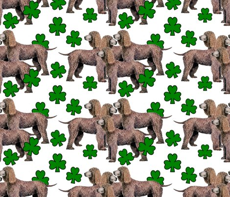 Rrirish_water_spaniel__with_shamrocks_seamless_shop_preview
