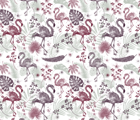 TROPICAL HOLIDAY fabric by bluevelvet on Spoonflower - custom fabric