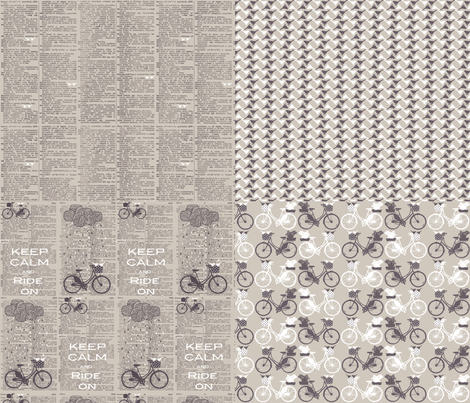 Take a ride collection-fat quarters on one yard fabric by katarina on Spoonflower - custom fabric