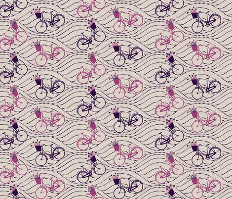 bikes up & down_PURPLE&PINK fabric by natasha_k_ on Spoonflower - custom fabric