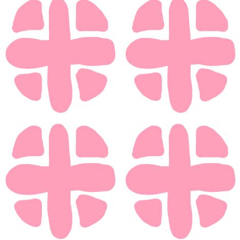 pink spotty plus fabric by pattyryboltdesigns on Spoonflower - custom fabric