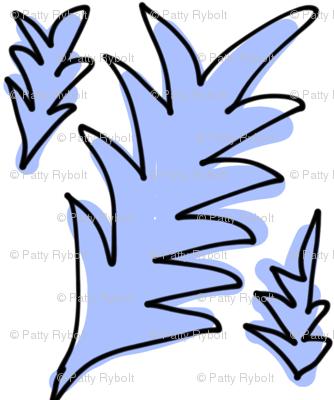 Spiky Leaves (periwinkle)