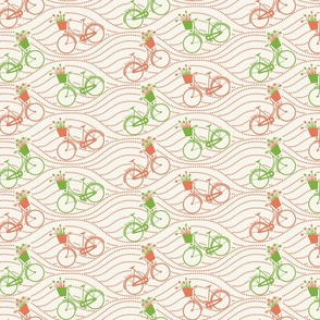 bikes up & down_green&orange