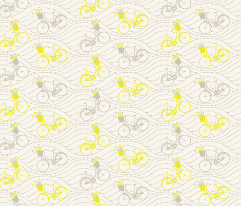 bikes up & down_yellow&grey fabric by natasha_k_ on Spoonflower - custom fabric
