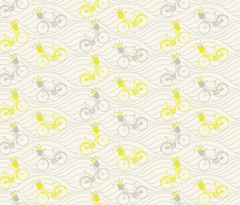 bikes up & down_yellow&grey fabric by natasha_k_ on Spoonflower - custom fabric