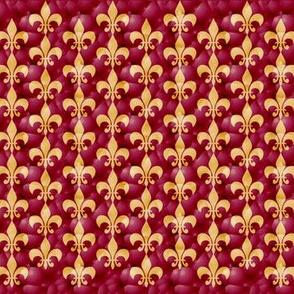 fleur-de-les red & gold