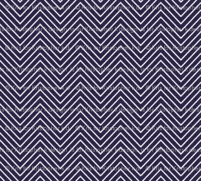 Chevron Chic - Mini - Midnight Blue
