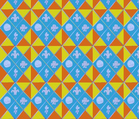Robot Cheater Scramble fabric by g_s_ on Spoonflower - custom fabric