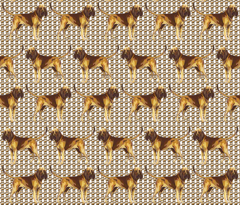 Pause for Bloodhound Paws  fabric by dogdaze_ on Spoonflower - custom fabric