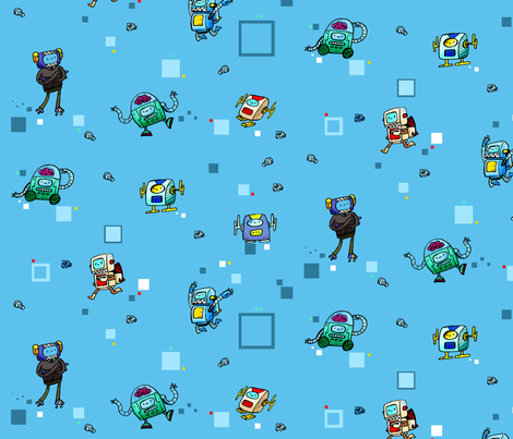 robots fabric by sewdeadly on Spoonflower - custom fabric