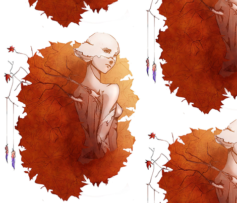 Autumn Sun fabric by humdrumbuzz on Spoonflower - custom fabric