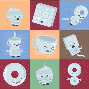 Breakfast Bots (Cheater Quilt)