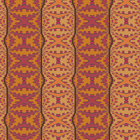 Tonga (Carrot) fabric by david_kent_collections on Spoonflower - custom fabric