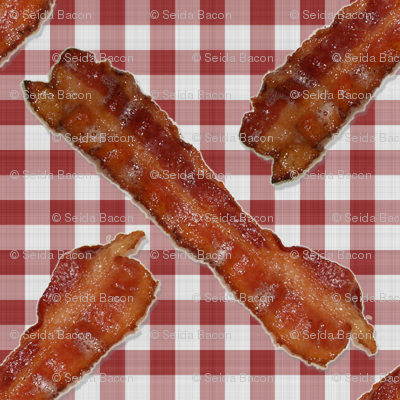 BACON! Red Gingham
