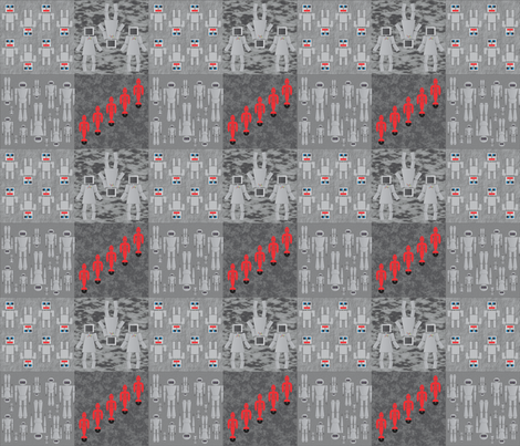 Robot_combined_2_12_2012 fabric by compugraphd on Spoonflower - custom fabric