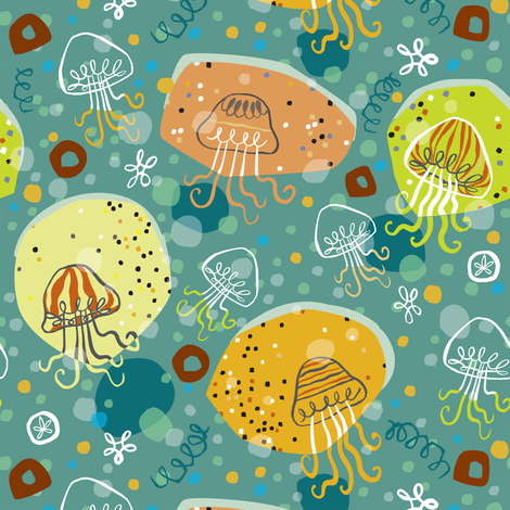 Jellyfish Fanatic  fabric by gsonge on Spoonflower - custom fabric