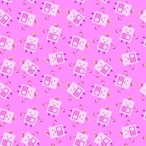 Pink Baby Robot Pattern - Small