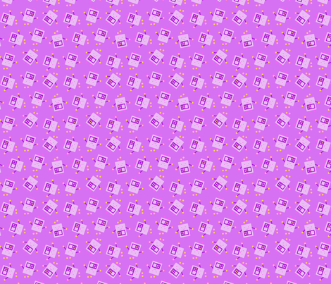 Purple baby robot pattern small fabric mysteek for Purple baby fabric