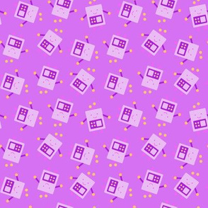 Purple Baby Robot Pattern - Small