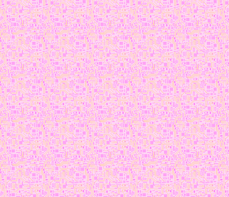 Pink Circuit - Small fabric by mysteek on Spoonflower - custom fabric