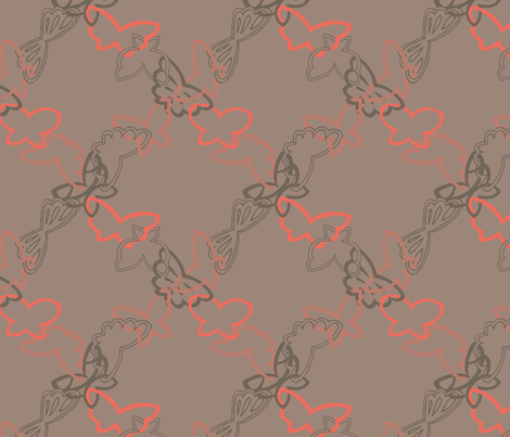 Tangled Butterflies II - Argyle fabric by noaleco on Spoonflower - custom fabric