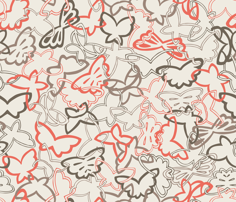 Tangled Butterflies II - Main fabric by noaleco on Spoonflower - custom fabric
