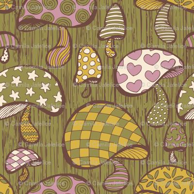 Wonderland Mushrooms - Green