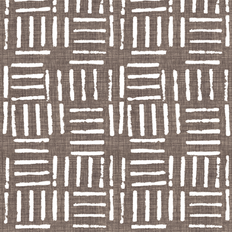 Wicket Press - Chocolate fabric by kristopherk on Spoonflower - custom fabric