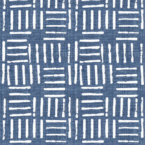 Wicket Press - Indigo fabric by kristopherk on Spoonflower - custom fabric