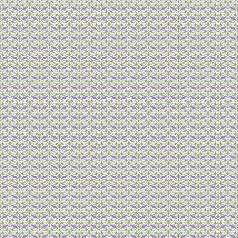 smileybee green lilac fabric by glimmericks on Spoonflower - custom fabric