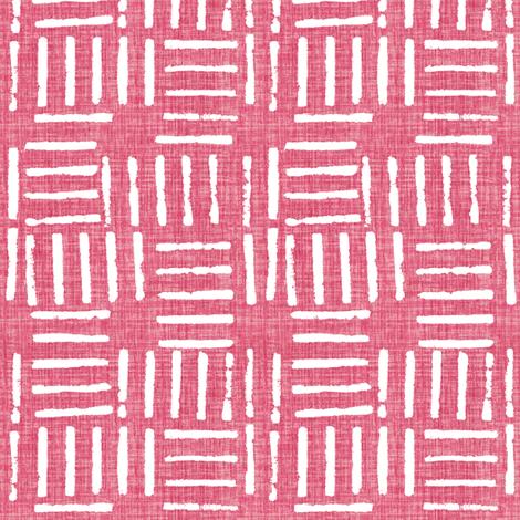 Wicket Press - Pink fabric by kristopherk on Spoonflower - custom fabric