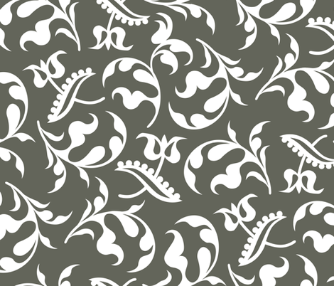 Bloomsbury Charcoal fabric by alicia_vance on Spoonflower - custom fabric