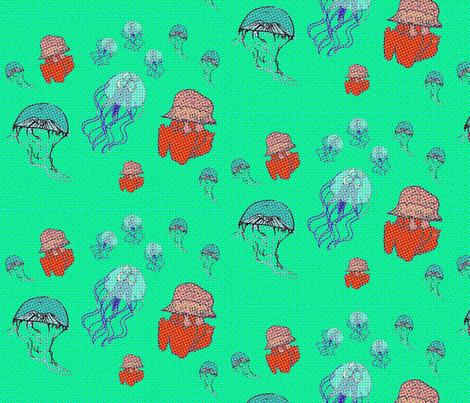jellyfish  fabric by annanini on Spoonflower - custom fabric