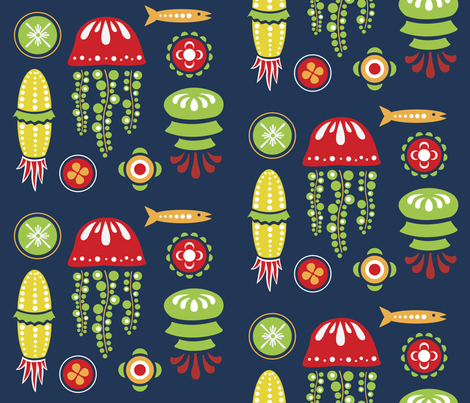 Jellyfish fabric by sorensen on Spoonflower - custom fabric