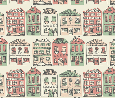 Weekend in Paris fabric by noaleco on Spoonflower - custom fabric