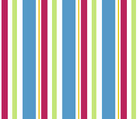 Candy_Stripe_Blue fabric by designedtoat on Spoonflower - custom fabric