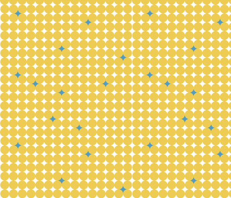Starry_Night_Yellow fabric by designedtoat on Spoonflower - custom fabric