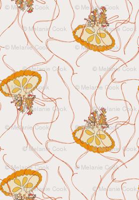 Medusa Jellies on cream
