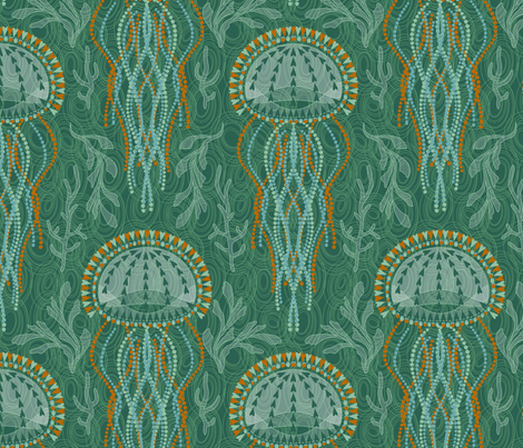 Jumpin' Jellyfish fabric by cjldesigns on Spoonflower - custom fabric