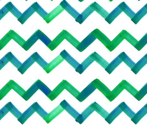 cestlaviv_greenblue 18  ultra fabric by cest_la_viv on Spoonflower - custom fabric