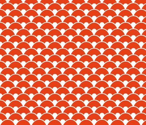 Orange sea fabric by wantit on Spoonflower - custom fabric